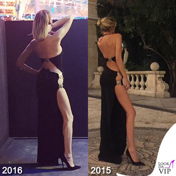 Alessia Marcuzzi finale Isola dei Famosi abito Versace 2016-2015
