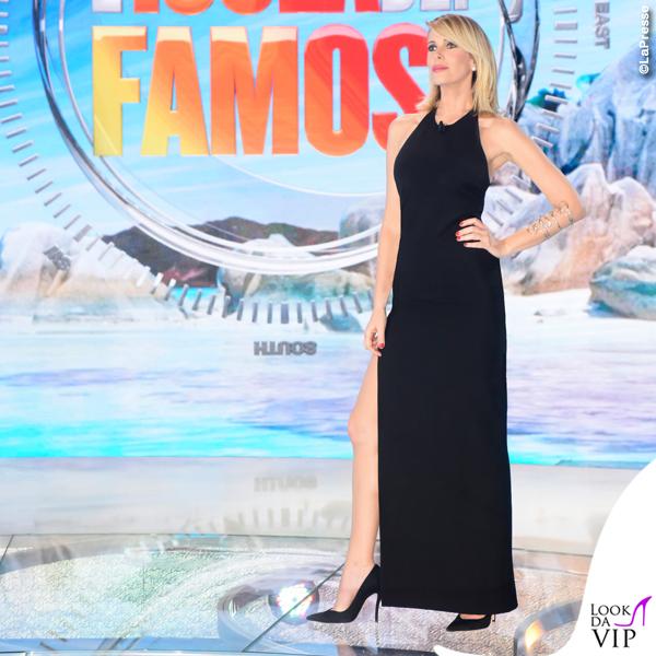Alessia Marcuzzi finale Isola dei Famosi abito Versace 3