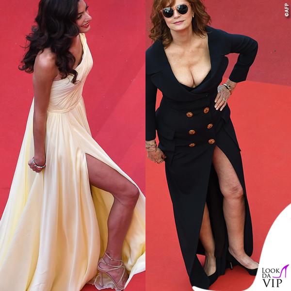 Amal Clooney abito Versace Susan Sarandon abito Jean Paul Gaultier