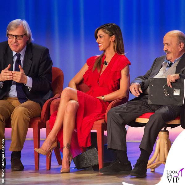 Belen Rodriguez Maurizio Costanzo Show abito Philosophy 2