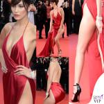 Bella Hadid Cannes 2016 abito Alexandre Vauthier gioielli De Grisogono sandali Giuseppe Zanotti Design