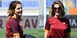 Claudia Gerini maglia AS Roma sneakers Atlantic Stars