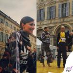 Cristina Chiabotto felpa pantaloni Adidas scarpe Le Silla