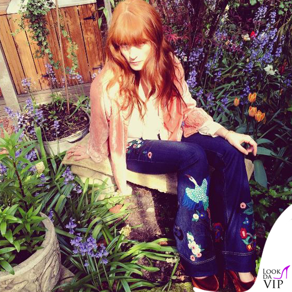 Florence Welch jeans Gucci