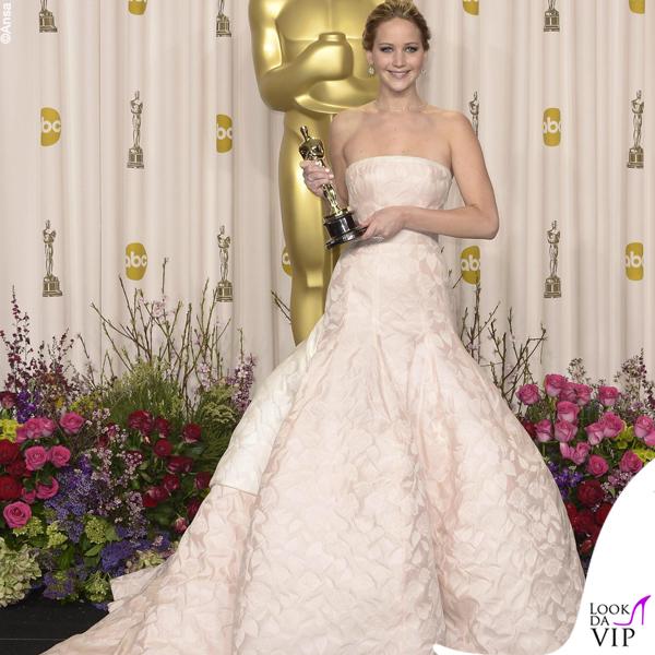 Jennifer Lawrence Oscars 2013 abito Dior 3