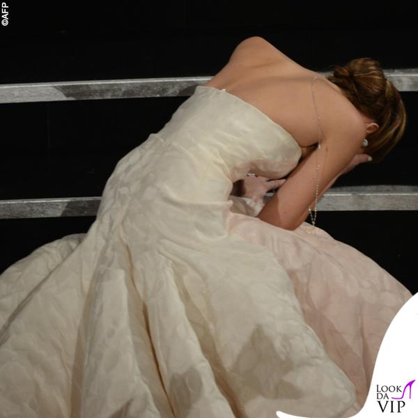 Jennifer Lawrence Oscars 2013 abito Dior