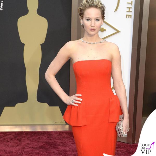 Jennifer Lawrence Oscars 2014 abito Dior 2
