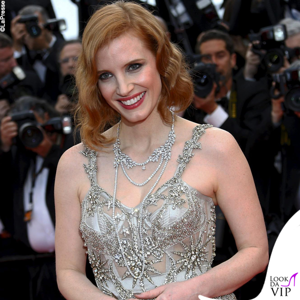 Jessica Chastain collana Piaget