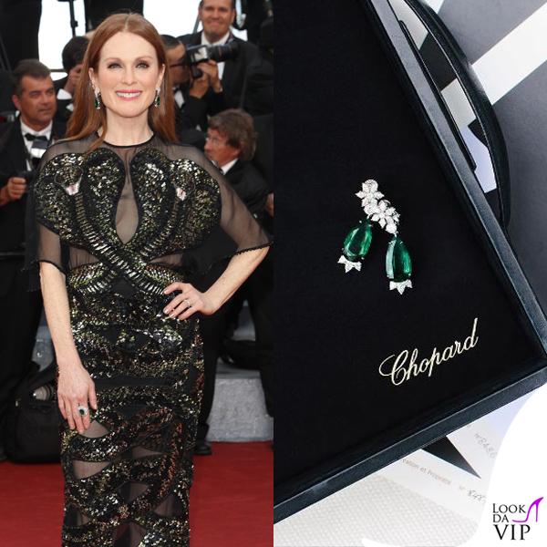 Julianne Moore abito Givenchy orecchini anello Chopard 2