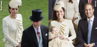 Kate Middleton Garden Party Battesimo George abito Alexander McQueen