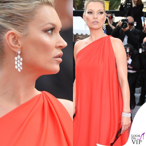 Kate Moss abito Halston gioielli Chopard 2