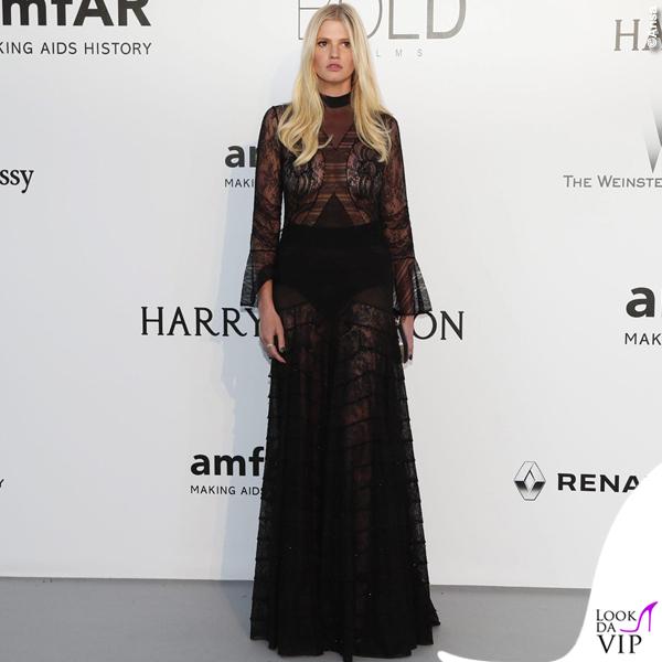 Lara Stone abito Givenchy hc SS16 2