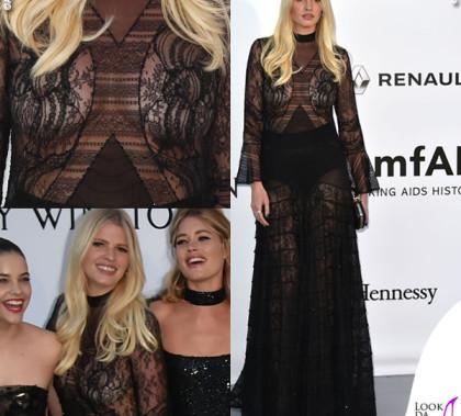 Lara Stone abito Givenchy hc SS16