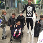 Mauro Icardi valigie Louis Vuitton e zaino Mia Bag