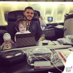 Mauro e Francesca Icardi porta iPad Louis Vuitton