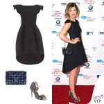 Mischa Barton abito Chiara Boni borsa Chanel Flap Bag scarpe Mambrini Chia 2