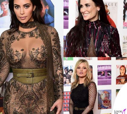 Vogue 100 Gala Dinner Kim Kardashian Demi Moore Kate Moss