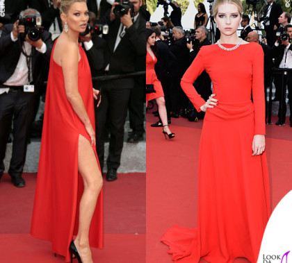Kate Moss e Lottie Moss Cannes 2016 premiere Loving abiti Halston e Dior