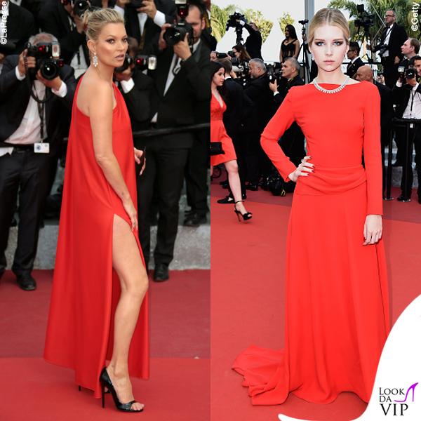 8be19990a04e Kate Moss e Lottie Moss Cannes 2016 premiere Loving abiti Halston e Dior