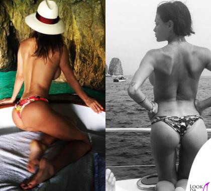 Claudia Galanti e Silvia Provvedi slip Miss Bikini