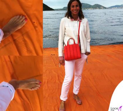 Cristina Parodi passerella di Christo borsa Whitney Bag Max Mara giacca Pinko