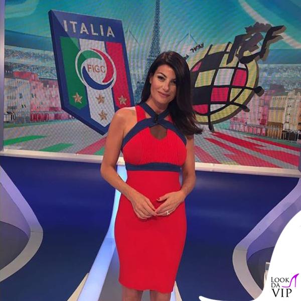 Ilaria D'Amico abito Elisabetta Franchi 2