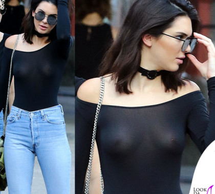 Kendall Jenner top HM jeans ReDone stivali Kenneth Cole borsa Givenchy occhiali Elizabeth and James