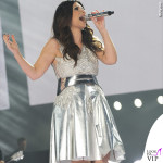 Laura Pausini Pausinistadi tour abito argento Byblos scarpe Nando Muzi 3