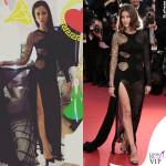 Marica Pellegrinelli e Laetitia Casta abito Atelier Versace