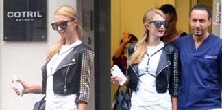 Paris Hilton Milano total Philipp Plein Cotril Dentista Cannizzo