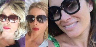 Alessia Marcuzzi Alena Seredova Costanza Caracciolo occhiali da sole