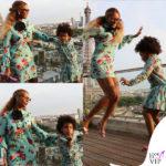 Beyoncé e Blue Ivy, look parigino in pendant