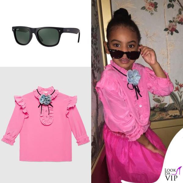 Blue Ivy Carter camicia Gucci occhiali Ray-Ban Wayfarer 2