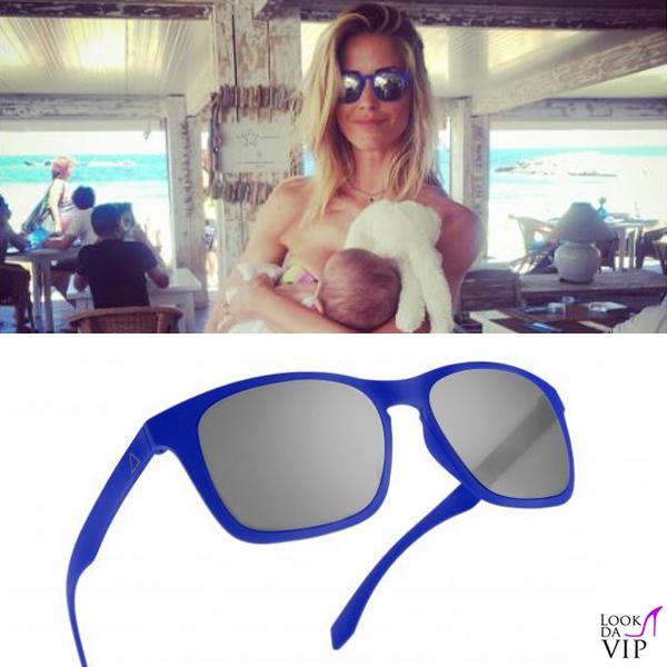 Elena santarelli occhiali da sole Alsteca