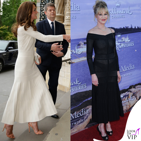 Kate Middleton e Melanie Griffith abito Barbara Casasola