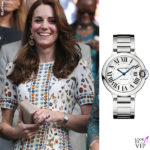 Kate Middleton orologio Cartier Ballon Bleu