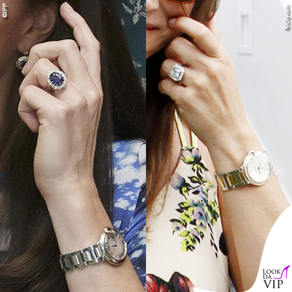 Kate e Pippa Middleton anello di fidanzamento orologio Cartier Ballon Bleu 2