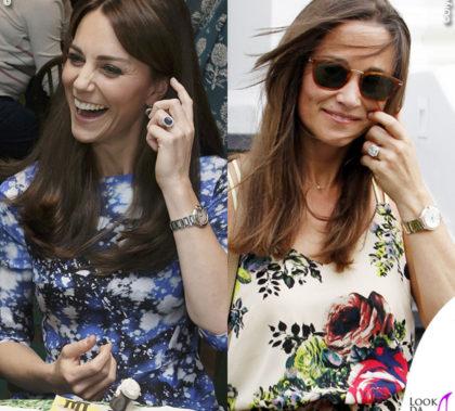 Kate e Pippa Middleton anello di fidanzamento orologio Cartier Ballon Bleu