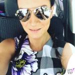 Laura Pausini occhiali da sole Philipp Plein