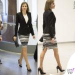Letizia Ortiz gonna giacca maglia Hugo Boss decolleté Magrit clutch Cucareliquia Archy