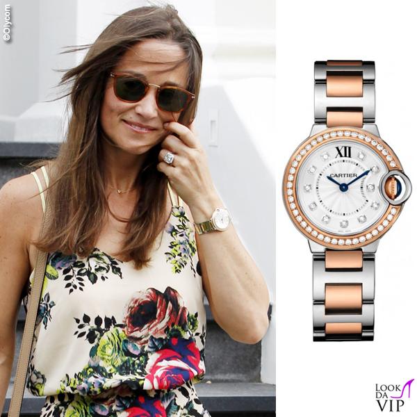 Pippa Middleton orologio Cartier Ballon Bleu