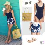 Reese Witherspoon body Karla Colletto shorts borsa Draper Jamens infradito Loeffler Randall occhiali Ray-Ban 2