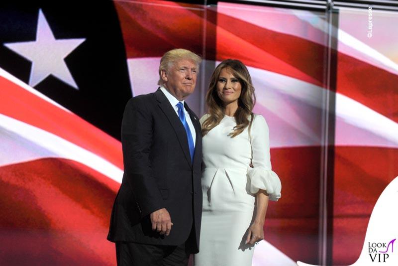 Donal e Melania Trump abito Roksanda pump Christian Louboutin 6