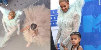 Beyonce e Blue Ivy abiti Francesco Scognamiglio e Mischka Aoki