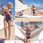 Clizia Incorvaia e Nina bikini Fimmina