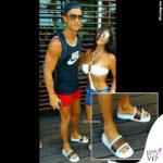 Cristiano Ronaldo smalto unghie nere tshirt Nike ciabatte Gucci