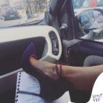 Luisa Ranieri scarpe Casadei