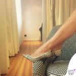 Luisa Ranieri scarpe Ferragamo