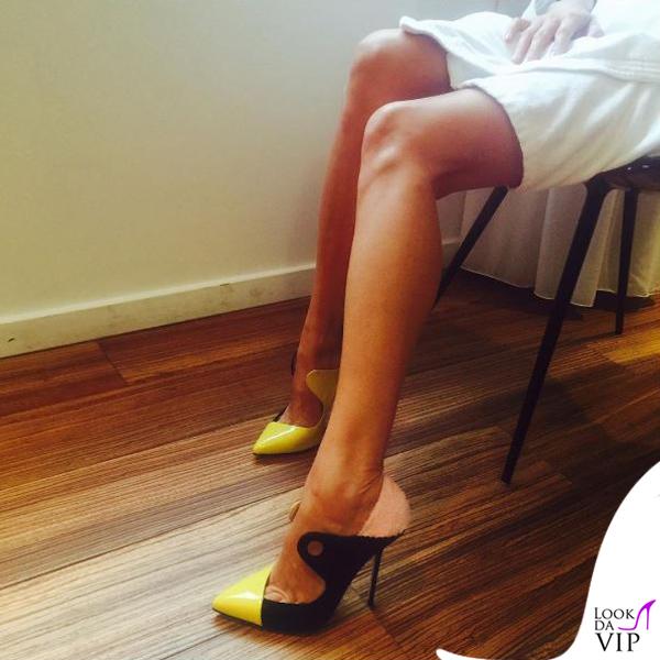 Luisa Ranieri scarpe Giannico Picasso