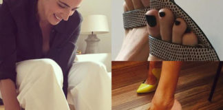 Luisa Ranieri scarpe N21 Alexander Wang Giannico Casadei